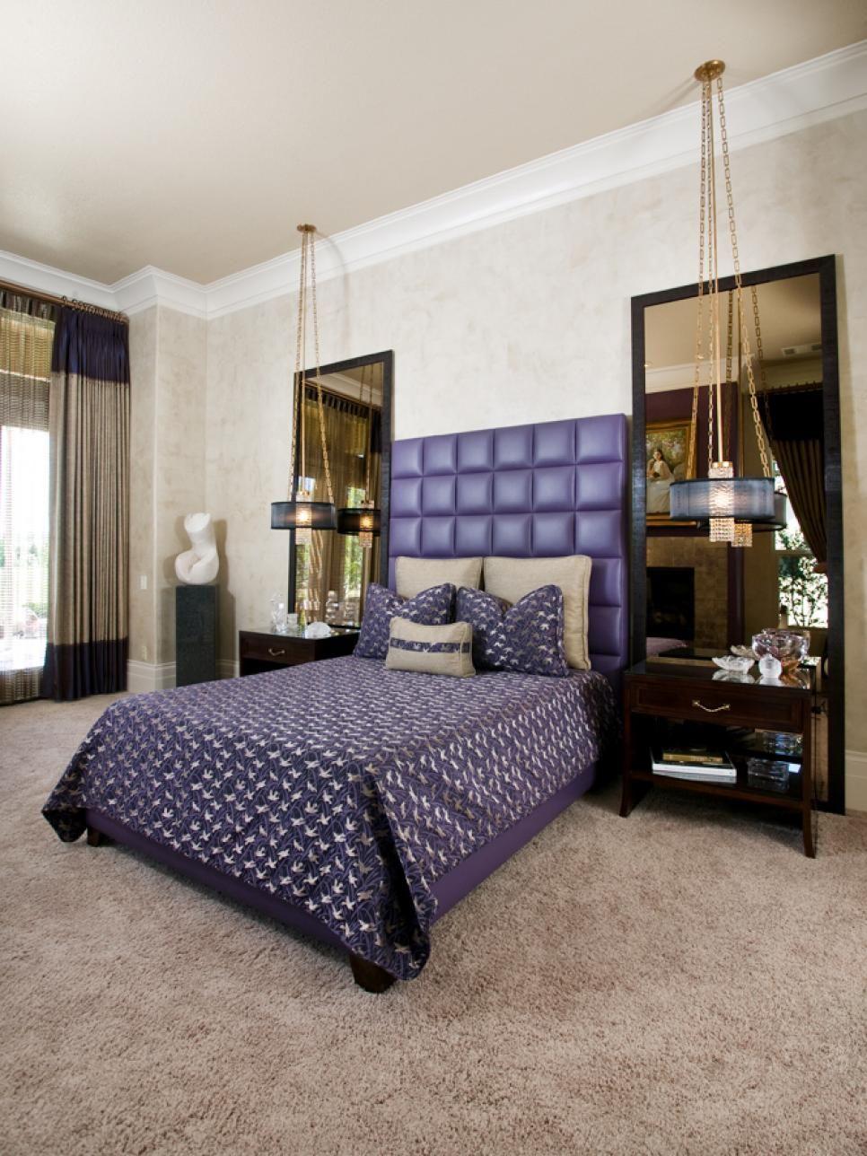 Bedroom Lighting Ideas Bedroom Retreat Purple Headboard