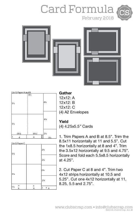 Bonus Card Formula For 12x12 Papers Club Scrap Card Sketches Templates Card Making Templates Card Making Kits