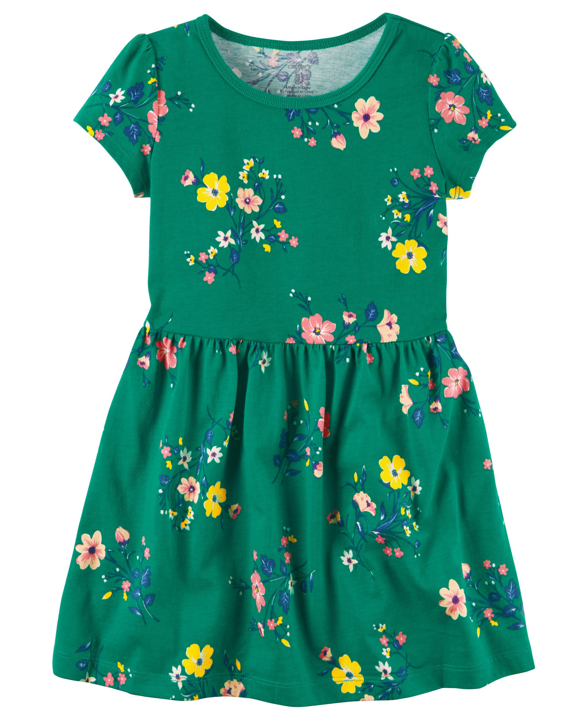 94756629b4ae Kid Girl Floral Jersey Dress | Carters.com | Style | Toddler girl ...