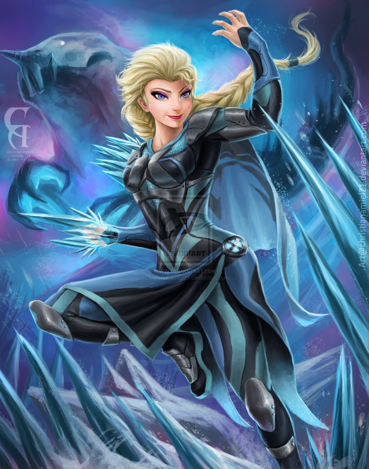 "Elsa x-men by christianamiel21.deviantart.com on @deviantART - If Elsa from ""Frozen"" was one of the X-Men...."