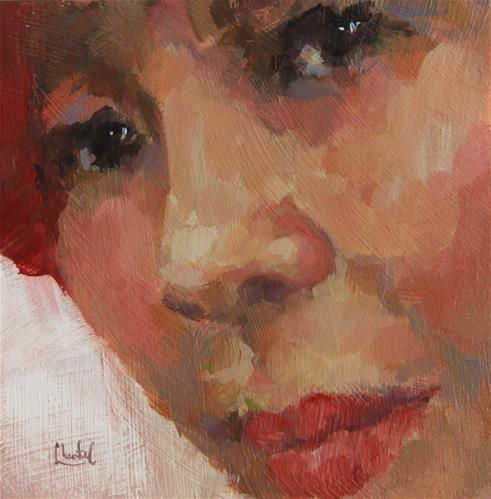 """Daily+Paintworks+-+""""The+Heart+Within""""+-+Original+Fine+Art+for+Sale+-+©+Chantel+Barber"""