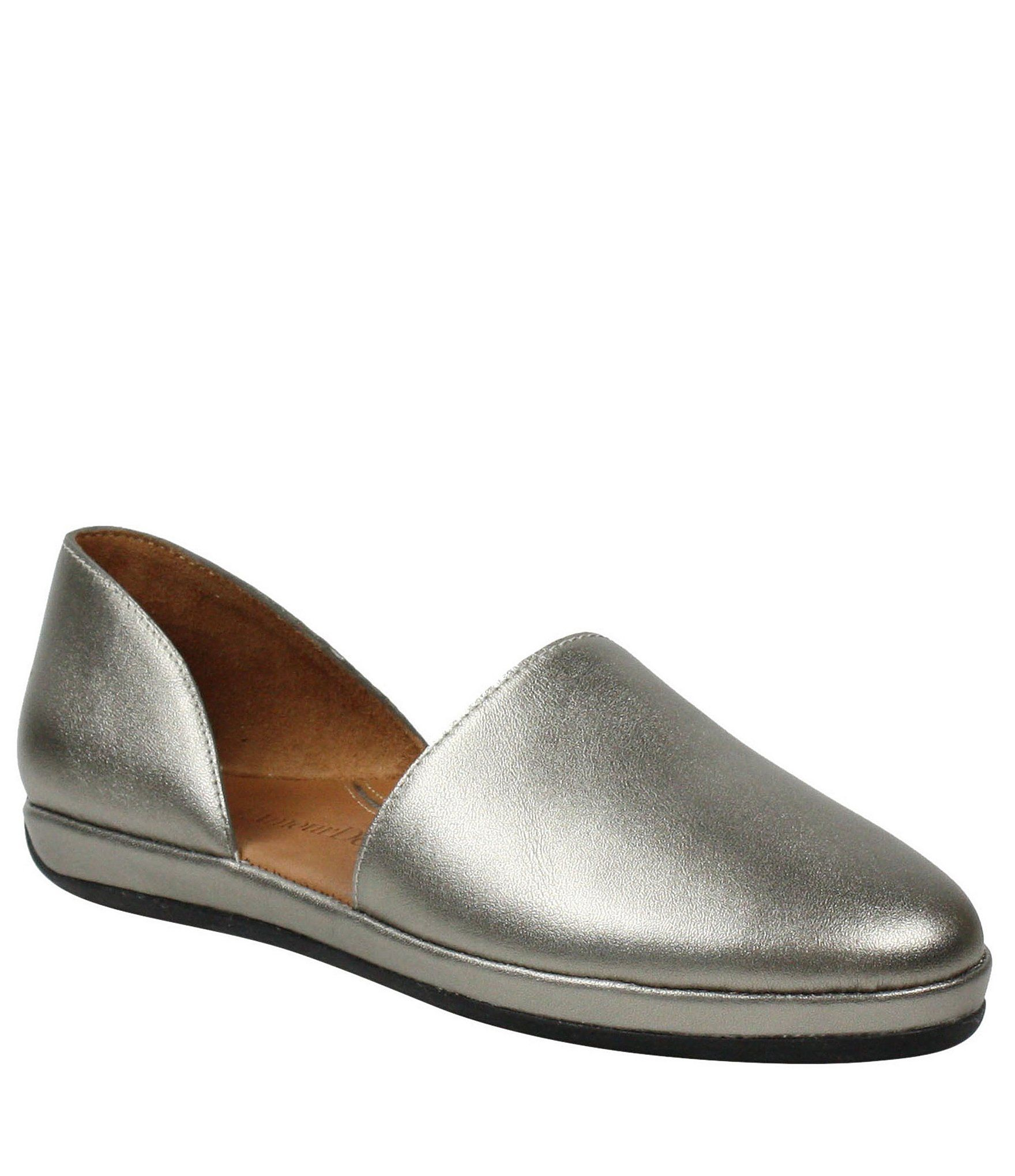 L'Amour Des Pieds Yemina Metallic Leather Two Piece Slip Ons - 9M