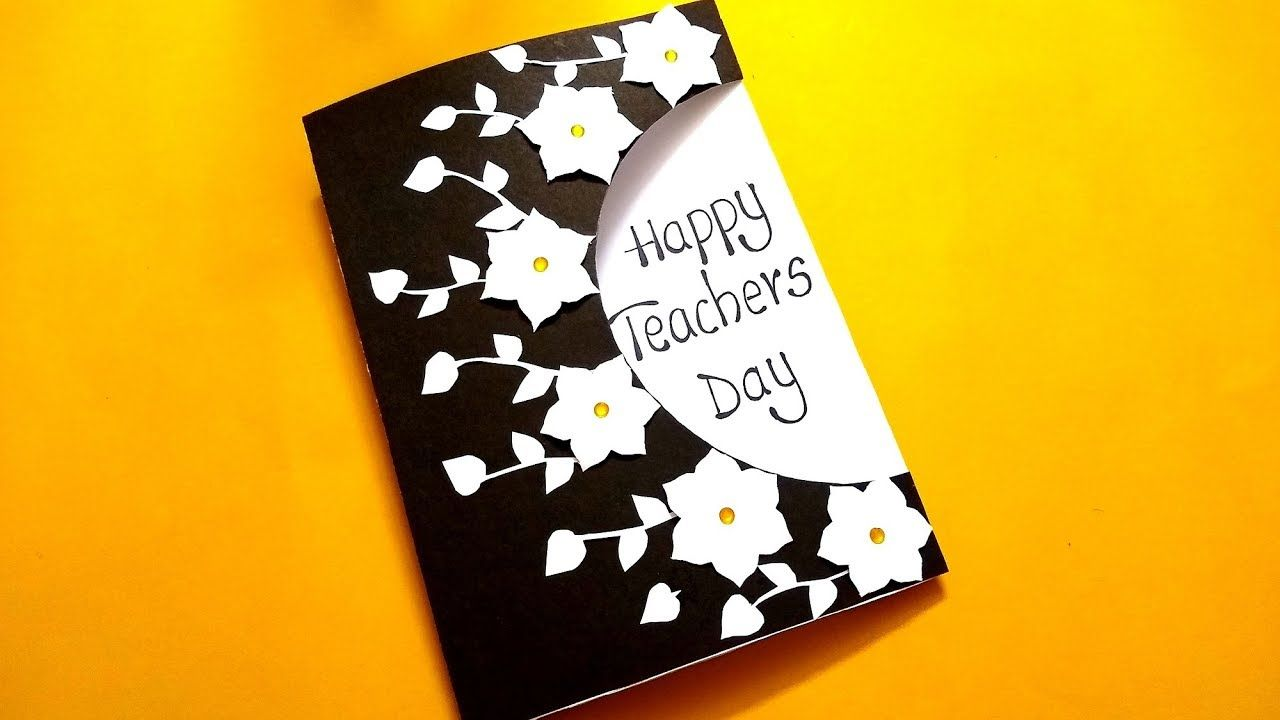 Diy Teachers Day Card How To Make Teacher Day Card Griting Card For Kids Youtube Teachers Day Card Teachers Diy Teachers Day Greeting Card