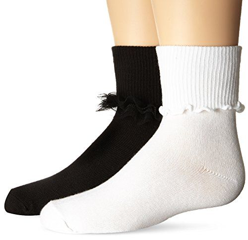 Jefferies Socks Girls Ripple Ruffle Dress Turn Cuff Socks 6 Pair Pack