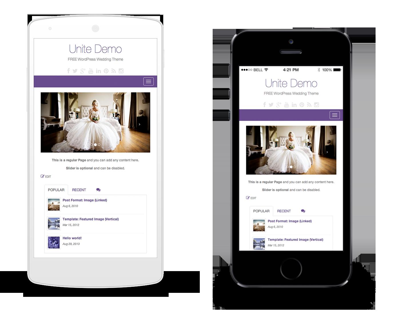 Unite - Free WordPress Wedding Theme - Colorlib | WordPress | Free ...