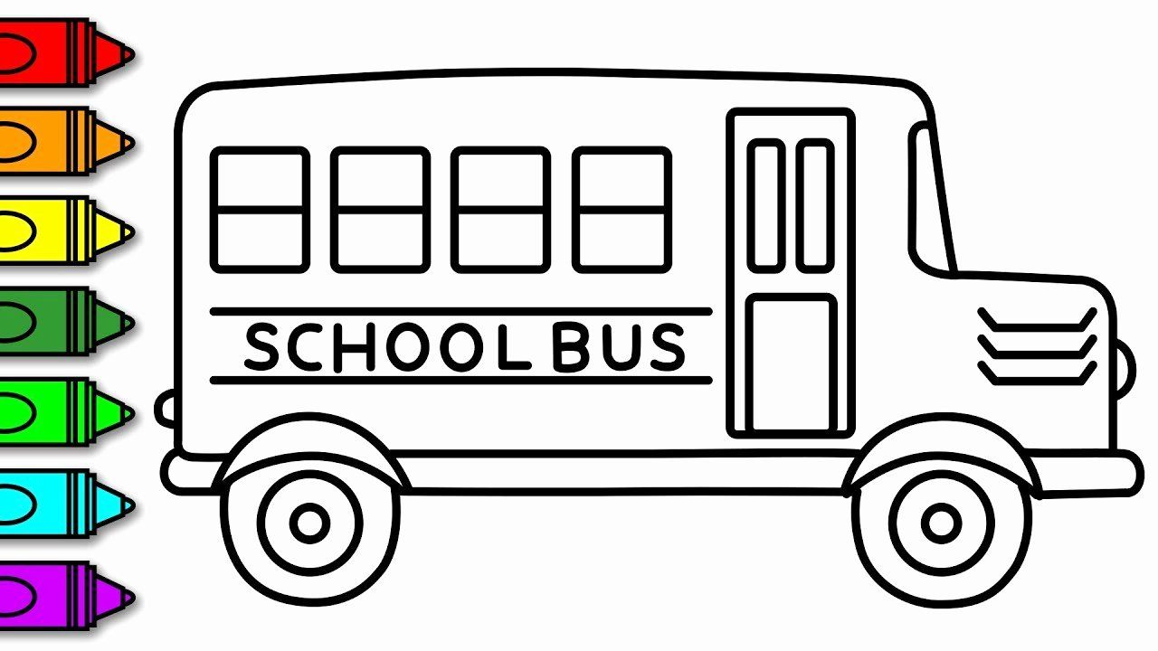 32 School Bus Coloring Page In 2020 With Images School
