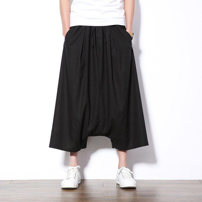 2bf3debf6de6 Mens Japanese Samurai Style Boho Casual Loose Fit Harem Baggy Hakama Capri  Pants  fashion  clothing  shoes  accessories  mensclothing  pants (ebay  link)