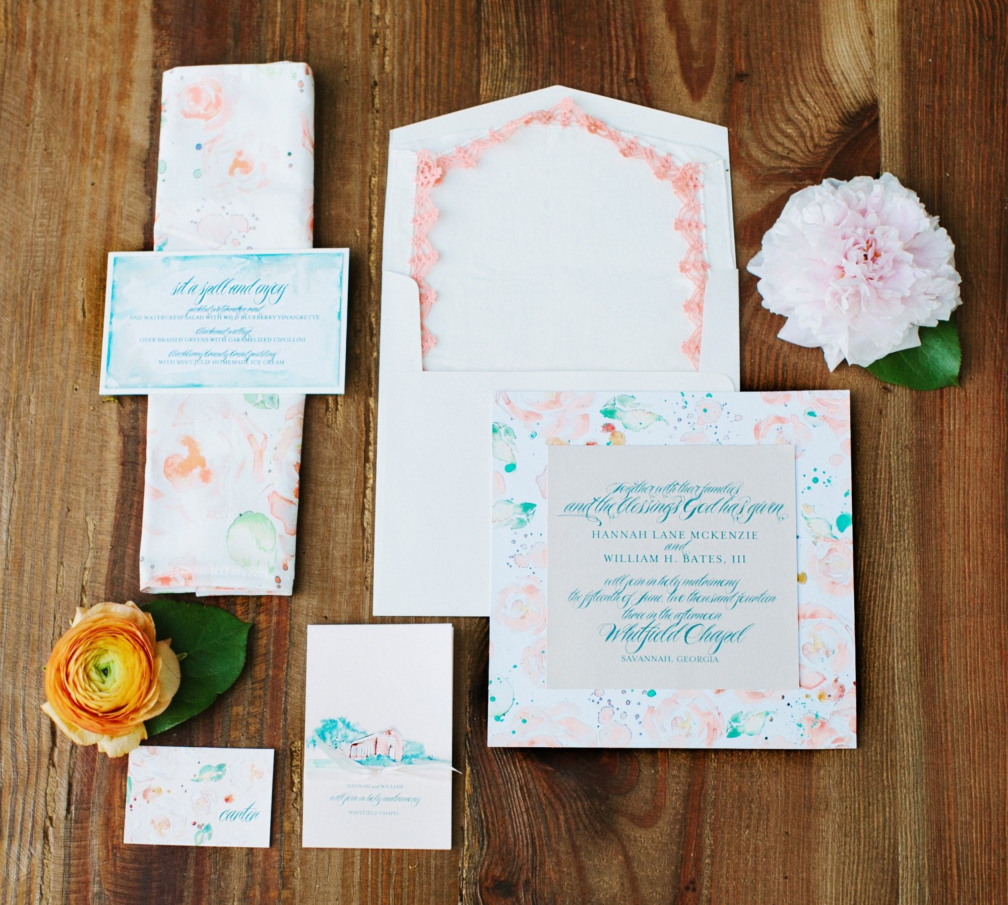 Watercolor-Pattern-Wedding-Invitation