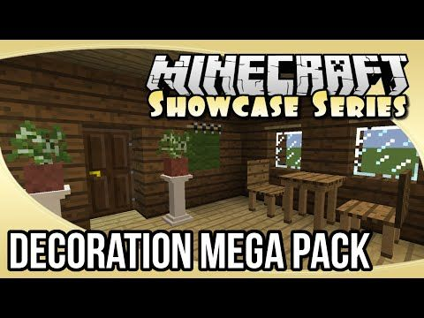 Decoration Mega Pack Mod Showcase The Minecraft Showcase Series Minecraft Decor Minecraft Mods