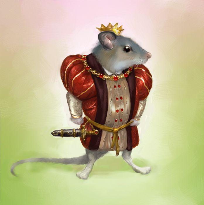 открытка мышиный король лисичке