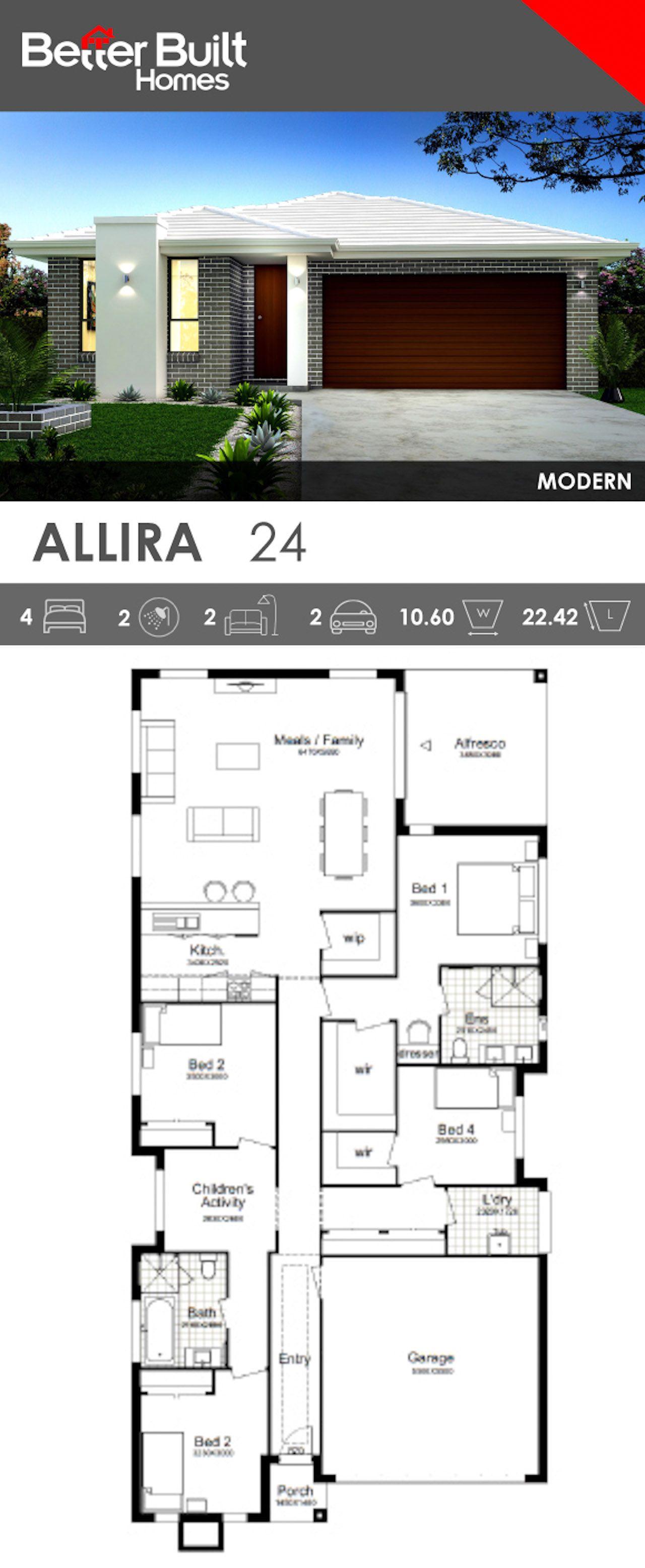Single Storey House Design - Allira 24. This smart contemporary ...