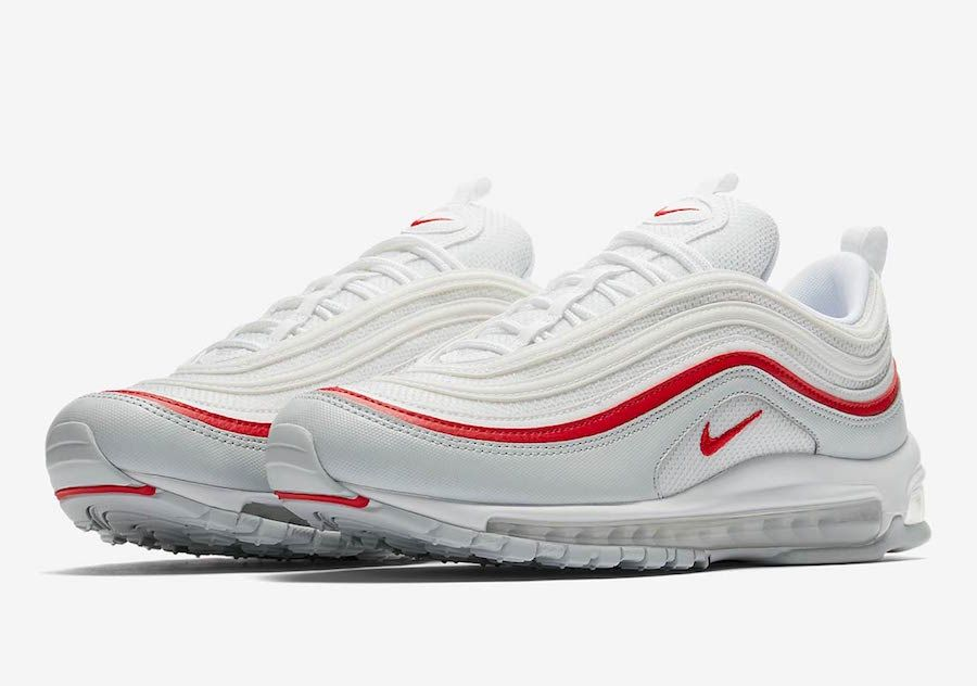 Nike Air Max 97 WhiteUniversity Red Line
