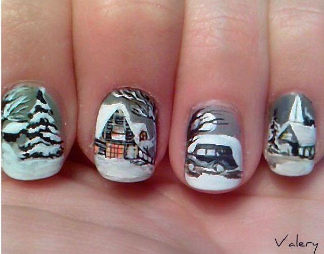 Winter Nail Art Nails Pinterest Winter Nail Art And Winter Nails