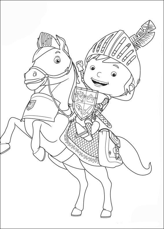 Mike de ridder kleurplaten voor kinderen kleurplaat en - Mike le pagine da colorare cavaliere ...