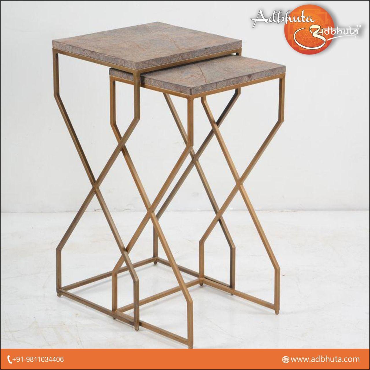 SOLD Elegant Nest of Tables Gilded Gold Edwardian