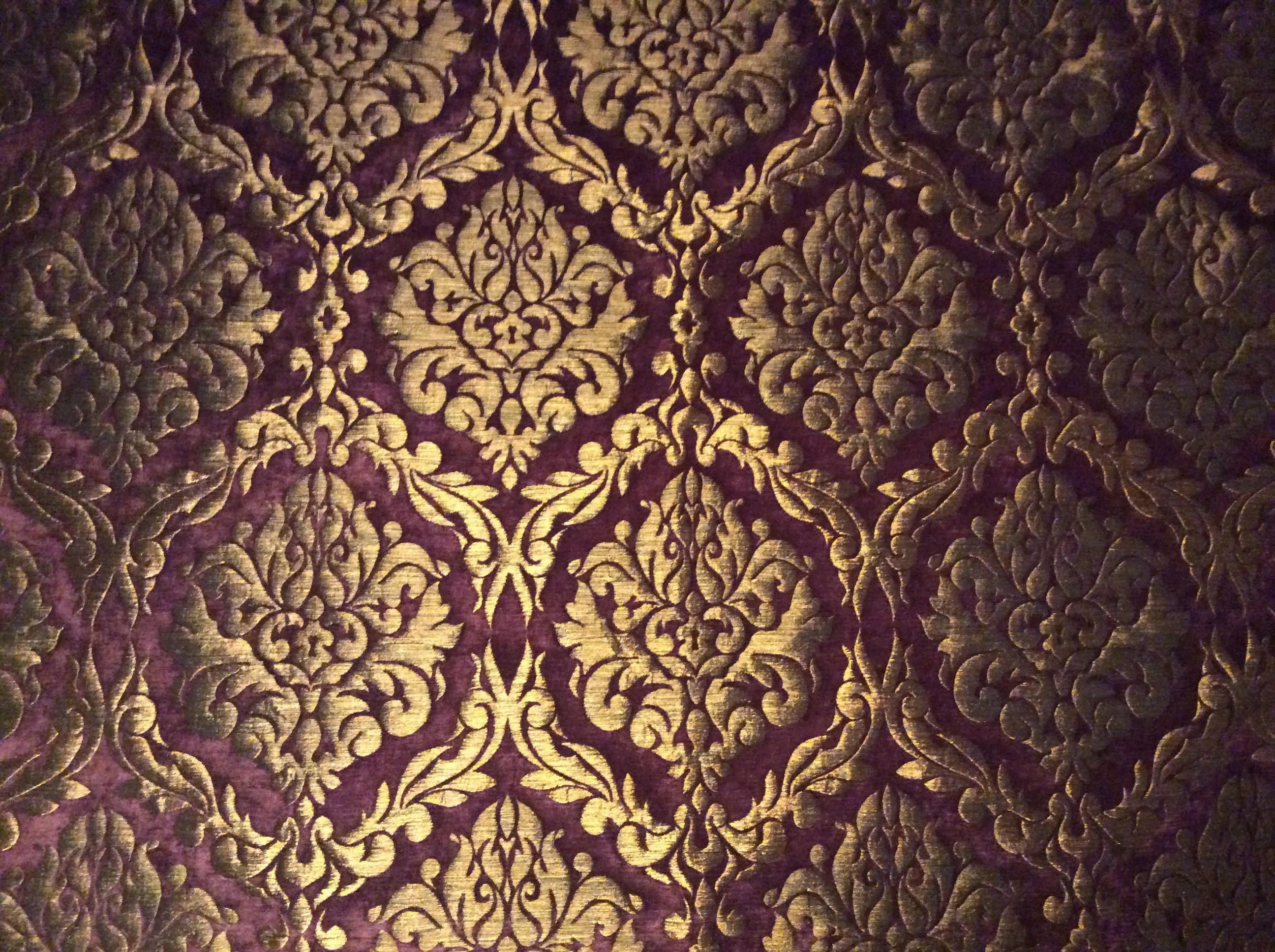 Heavy Velvet Brocade Woven Violet Gold Bronze Historical Ornaments Medieval Baroque Velvet Brocade Woven Fabric Fabric Fabric Medieval In 2020 Historical Ornaments Medieval Decor Fabric Decor