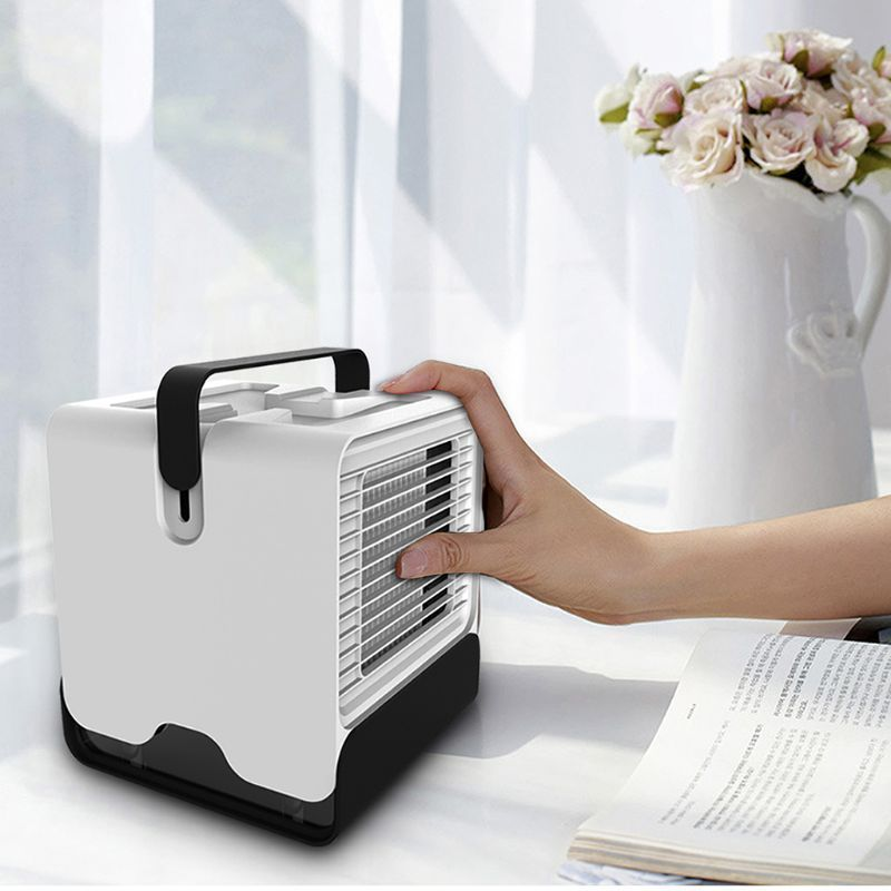 Open Smart Mini Cooler Negative Ion Air Conditioning Dormitory Office Usb Cooling Fan Mini Cooler Negative Conditio Air Conditioning Fan Ion Air Air Purifier