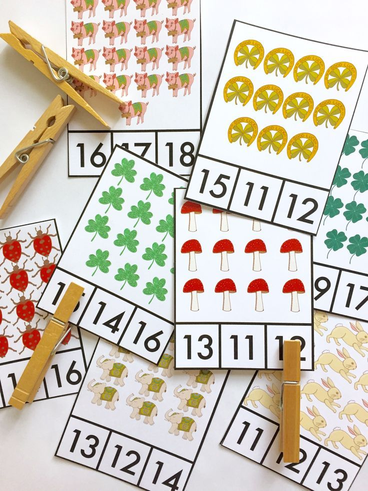 Teen Numbers Count and Clip Cards for St. Patrick's Day. {from The Designer Teacher}