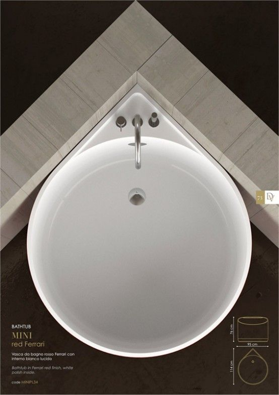 Cool Mini Bathtub Of Fiberglass For Small Spaces | DigsDigs | Modern ...