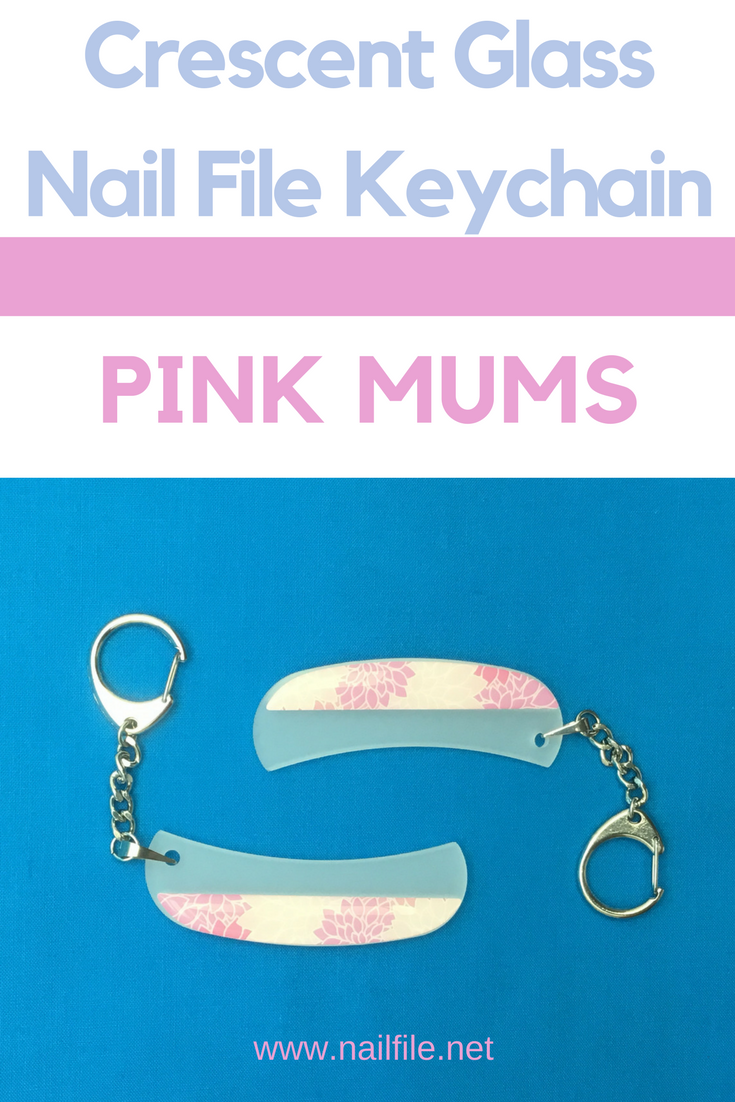 NEW Crescent Glass Nail File Keychain by Top Notch Nail Files Pink ...