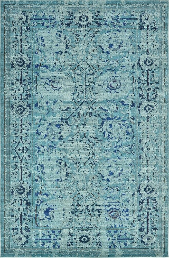 Found it at Wayfair - Barcelona Light Blue Area Rug. 5'x8' $163 Living Room