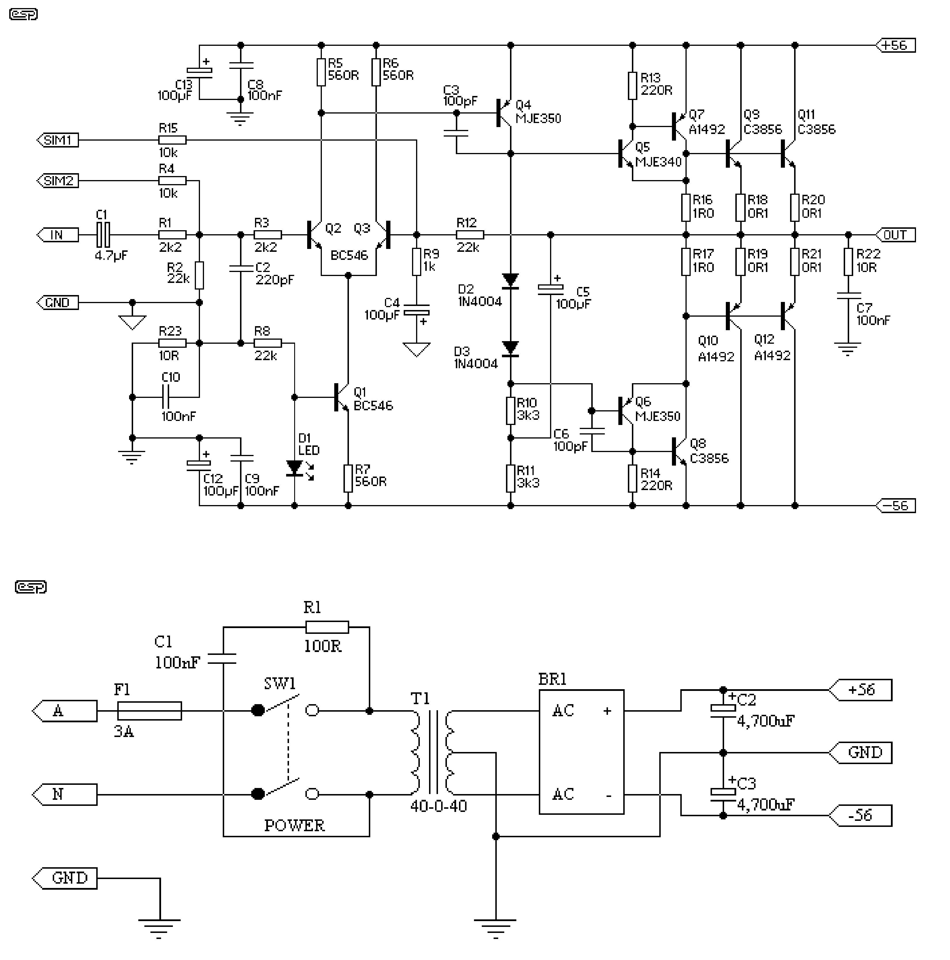 Amplificador De Udio Stereo 600 Watts Electronics Projects Filter Circuits Electronic And Diagramelectronics