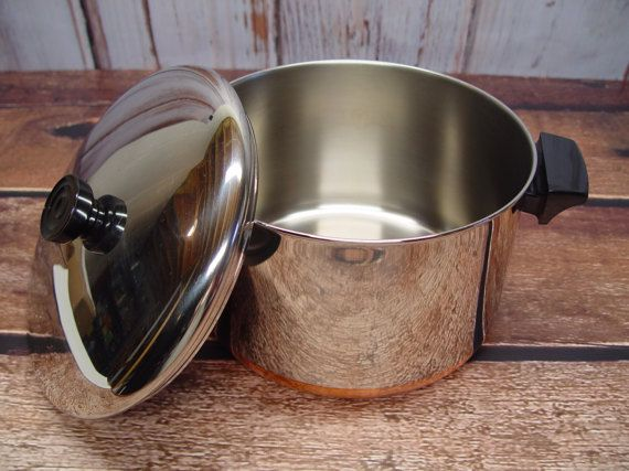 Revere Ware 6 Quart Stock Pot With Lid Copper Clad By