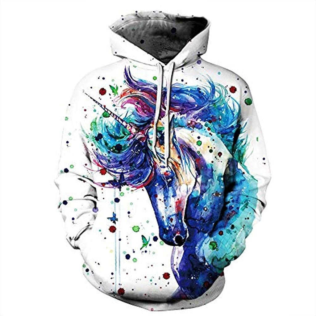 Mens Galaxy Unicorn Black//Camo Raglan Baseball Sweatshirt Black