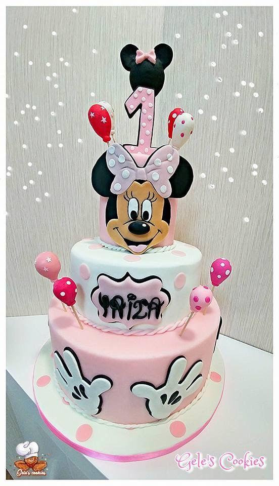 Tarta de fondant Minnie Mouse