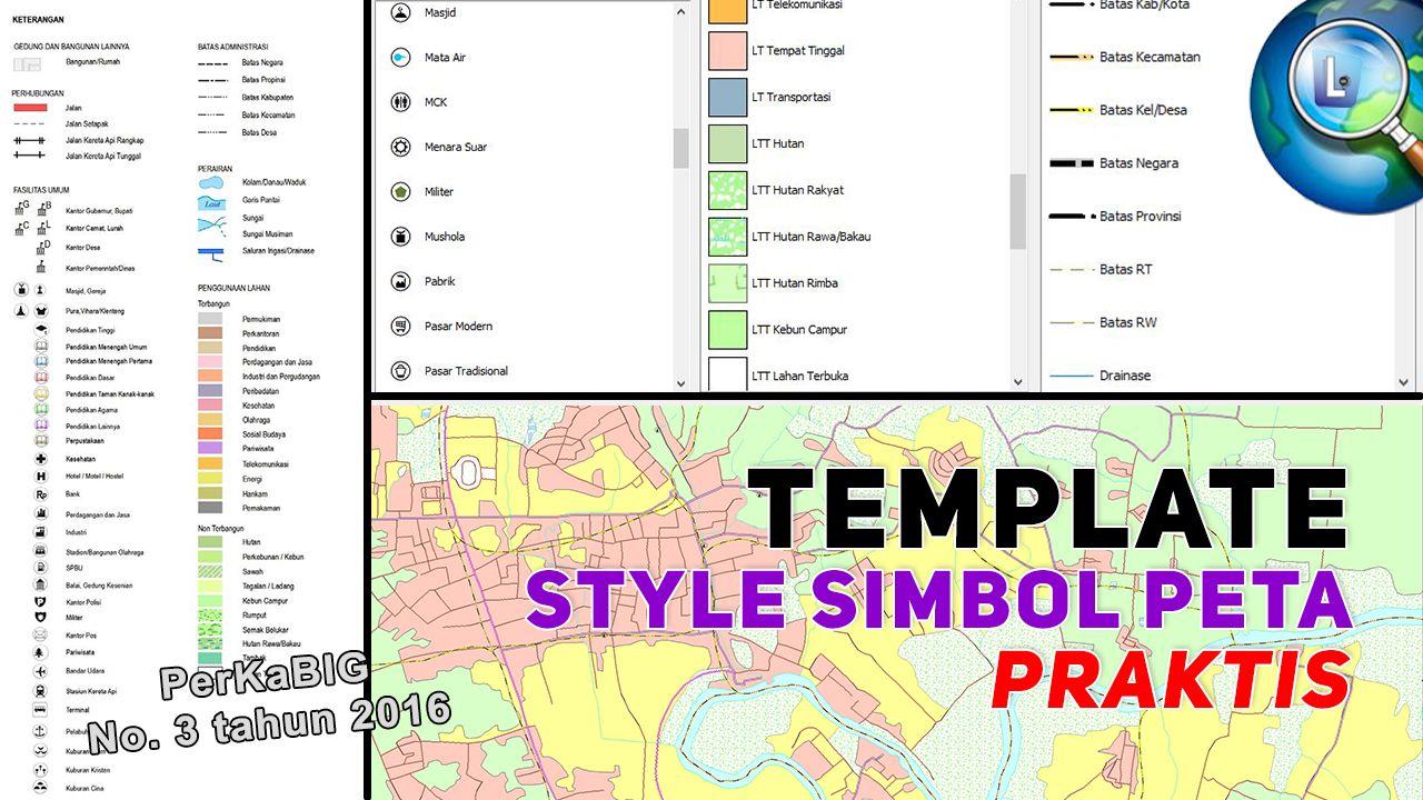 Style Simbol Peta Praktis Sesuai Teknis Penyajian Peta Peta Template Simbol