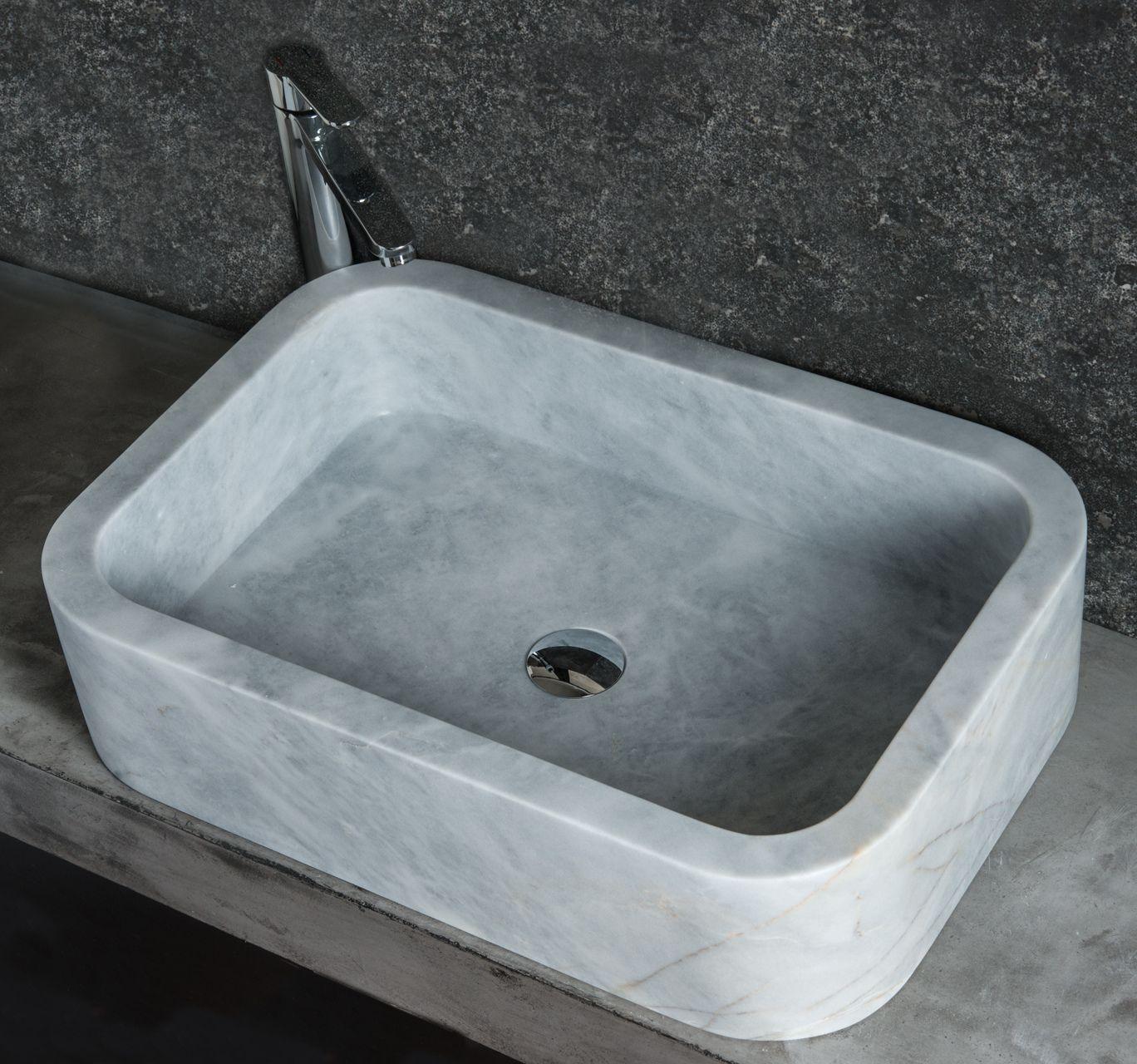 FARM grey marble lavabo rettangolare da appoggio #marble #travertine ...