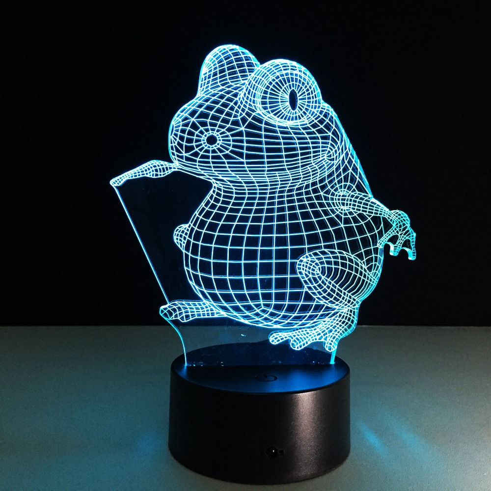 The Frog Acrylic 3d Night Light Led Stereo Vision Lamp 7 Colors Changing Usb Bedroom Bedside Night Light Baby Creative Gifts 3d Lamp Night Light Cool Lamps