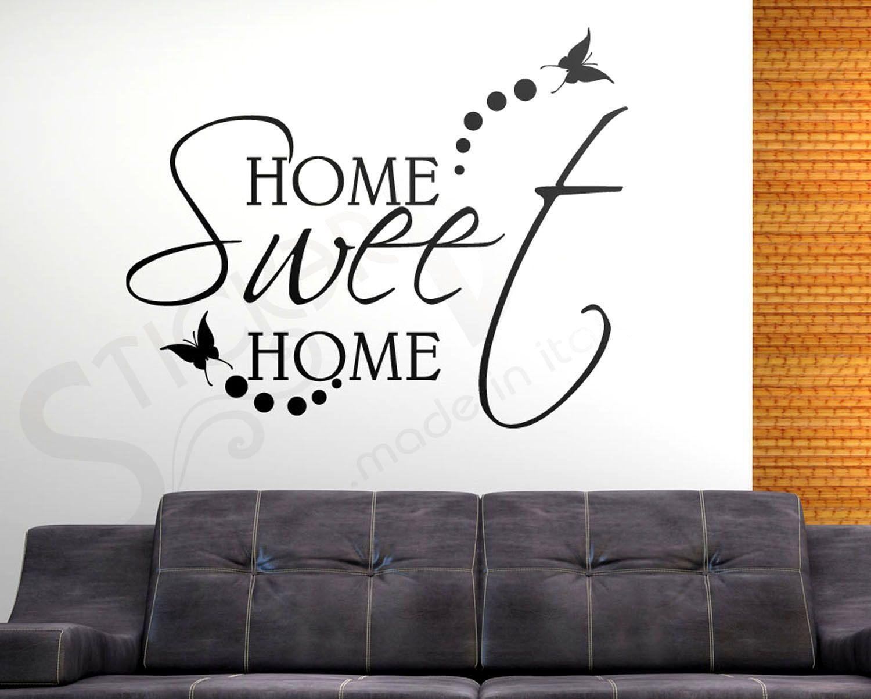 Adesivi Murali Home Sweet Home.Wall Stickers Home Sweet Home Adesivi Murali Frasi Citazione Casa Dolce Casa Adesivi Murali Murale Sweet Home