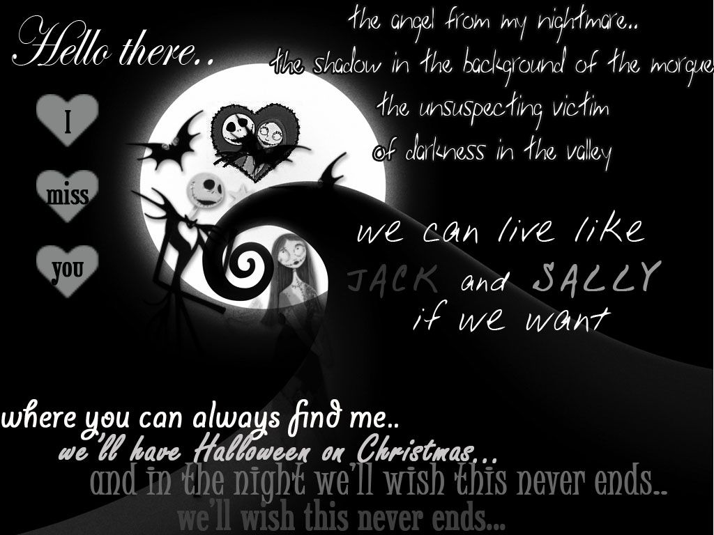 an awesome song/movie ) Nightmare before christmas