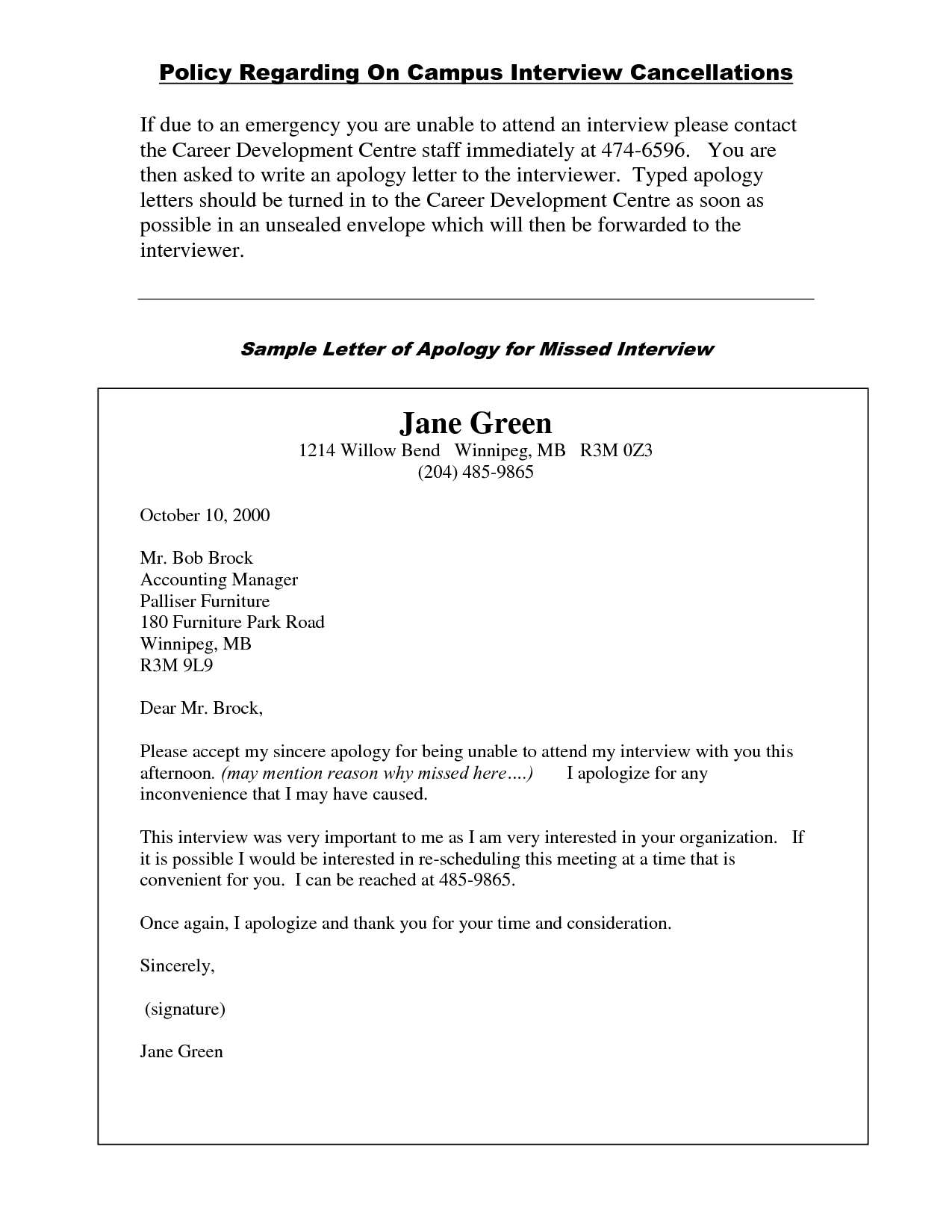 Sample Letter Of Apology By Yyk29767