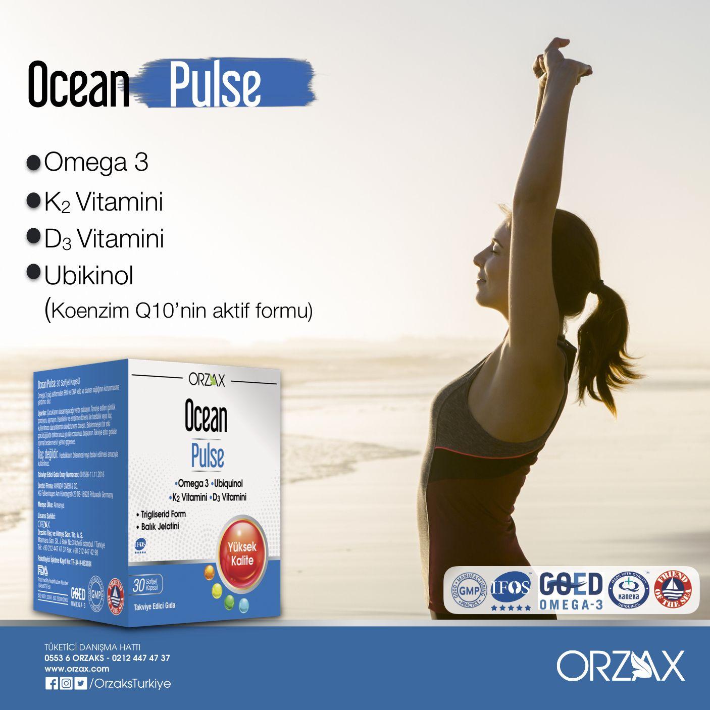 Ocean Pulse Omega 3 Yag Asitlerinden Epa Ve Dha Icerir Epa Ve Dha Kalp Ve Damar Sagliginin Korunmasina Yardimci Olur Ocean Pulse Ek O Ocean Dha Omega 3