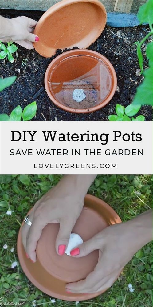 Save water in the garden with DIY Watering Pots  kids kit tools and equipment ukulele faux stone border edging wire me  kamar atas malam