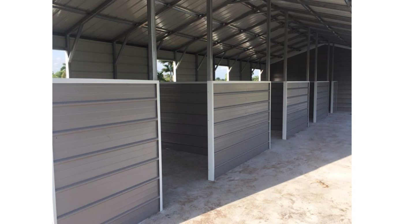 Photos of our Metal Carports, RV Covers, Barns, Combo