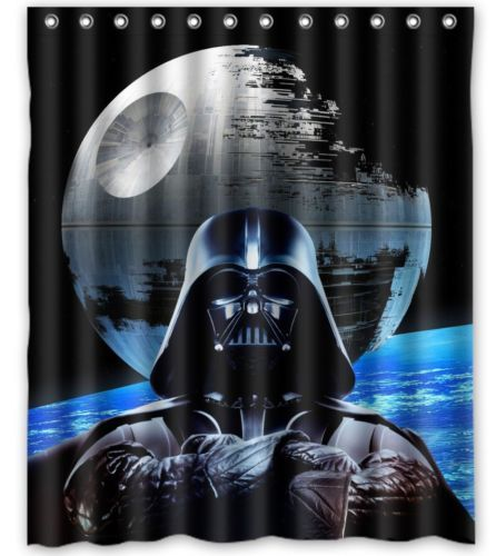 Star Wars Shower Curtain Dark Side Star Wars Shower Curtain