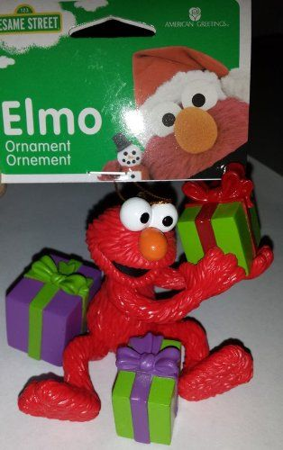 Sesame Street Elmo With Presents Christmas Tree Holiday Ornament Elmo