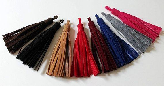 Suede Tassel 1 pieces  Color: Dark by TTassel on Etsy