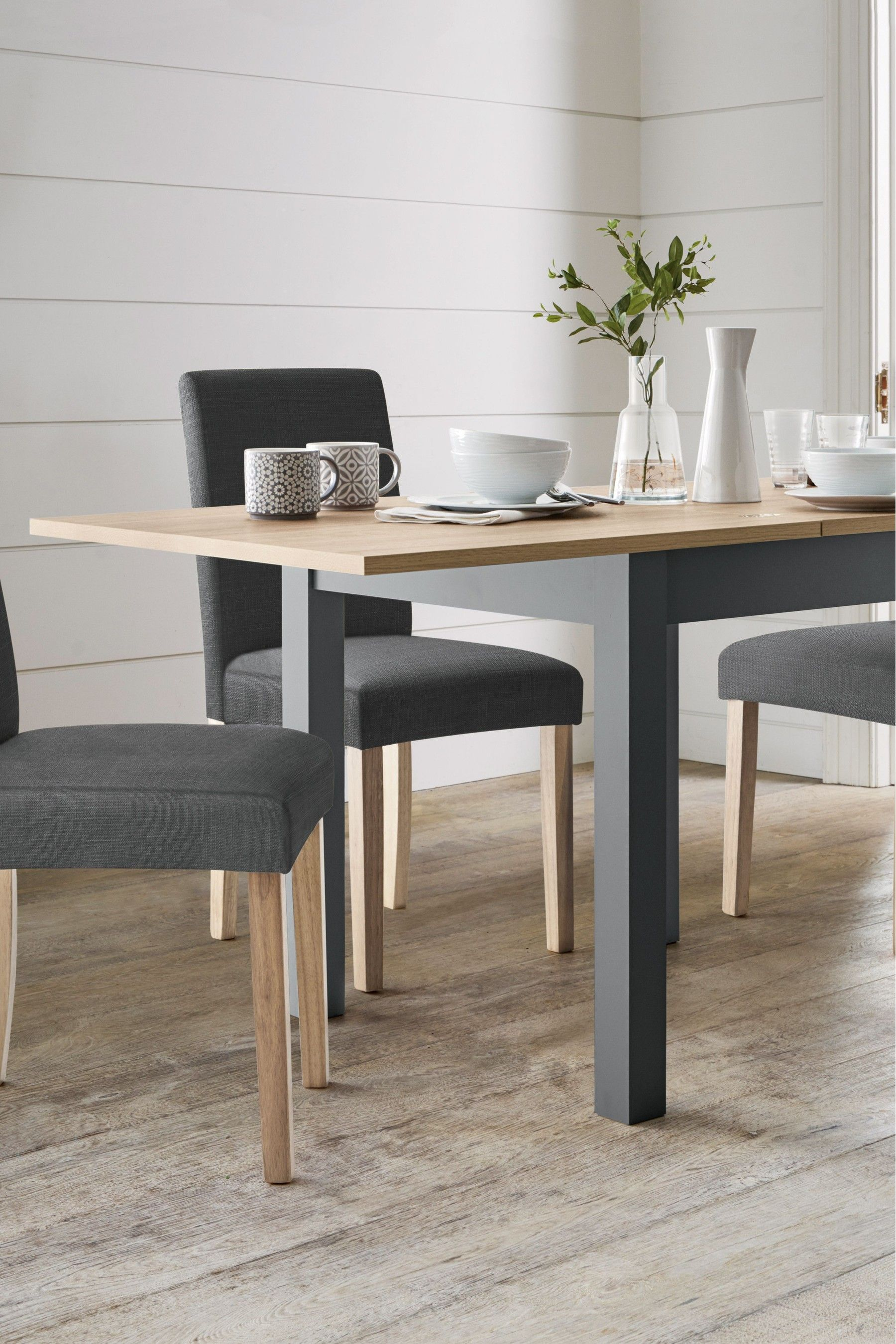 cf6d1bd063d Next Malvern Square To Rectangle Dining Table - Grey