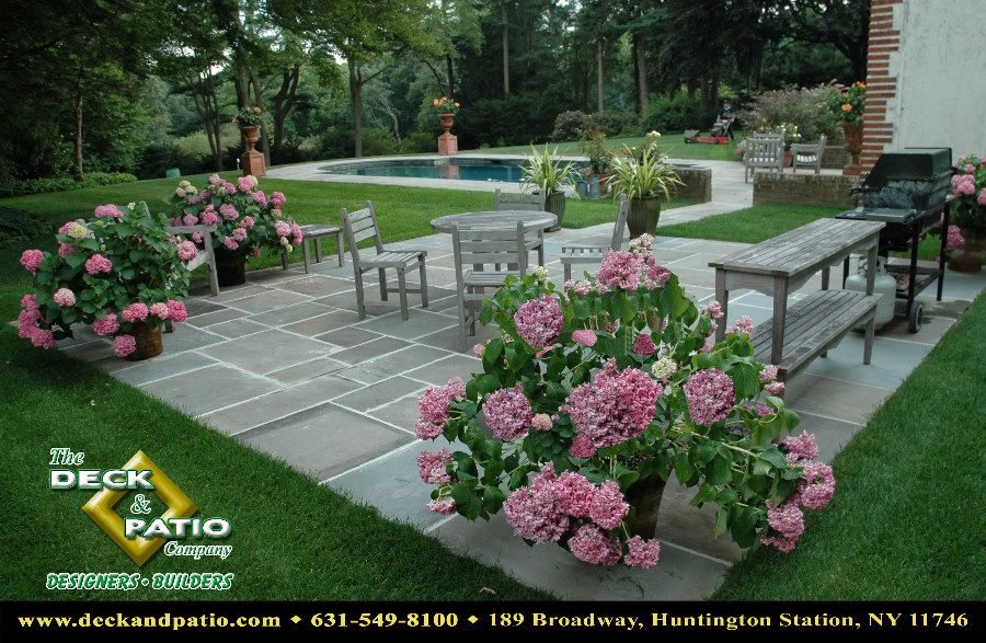 patios - natural stone and brick