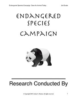 Endangered Species Animal Campaign Research Project