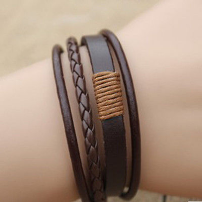 cool Fashion Retro Multilayer Leather Wristband Bracelet Cuff Bangle Men Women Ca - For Sale View more at http://shipperscentral.com/wp/product/fashion-retro-multilayer-leather-wristband-bracelet-cuff-bangle-men-women-ca-for-sale/
