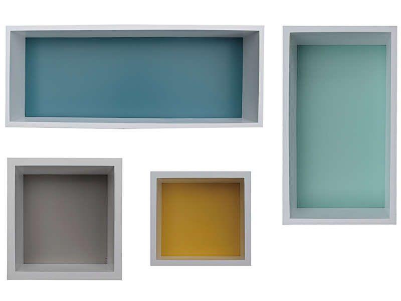 Set de 4 étagères murales FONDO - pas cher   C'est sur Conforama.fr - large  choix 16e2009fd055