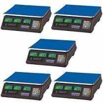 Kit 05 Unidades Balança Eletrônica Digital 40kg Visor Duplo