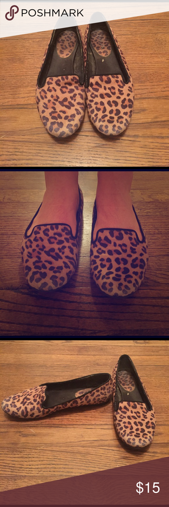 Leopard loafers Size 7.5, leopard print loafers. Cute and comfortable! Shoes Flats & Loafers