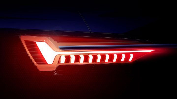 New Audi A6 Tail Light Design Sketch  New Audi A6 Tail Light Design Sketch