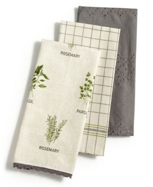 3 pc farmhouse kitchen towel set created for macy s products rh pinterest com